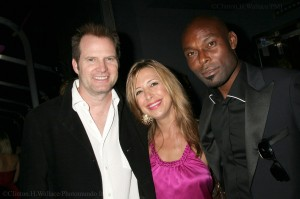 "Actors Jack Coleman and Jimmy Jean Louis from ""heroes"" with Red Carpet Roxy"