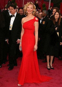 Actress Katherin Heigl on the Red Carpet in a dress by Escada