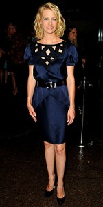 Mad Men star January Jones in an Andrew Gn dress