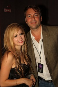 Rocker Avril Lavigne with mega events producer David Manning of A-List Communications