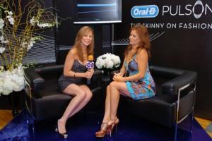 Red Carpet Roxy interviewing TV host Brooke Burke photo credit: Djamilla Cochran/Tom Concordia Photography