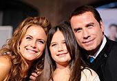 The Travolta family-Kelly, Ella Bleu, and John photo: caulfield/wire image