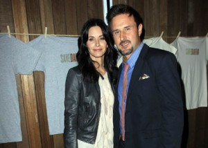 Courtney Cox and David Arquette at the T-Shirt launch of Save Darfur at Propr in Venice photo: wenn