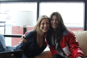 Roxy and Catherine Keener at the A-List Art & Soul Center at the Sundance Film Festival 2010 photo: Thomas Concordia
