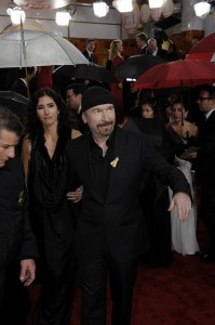 U2's The Edge at the 2010 Golden Globes photo: getty