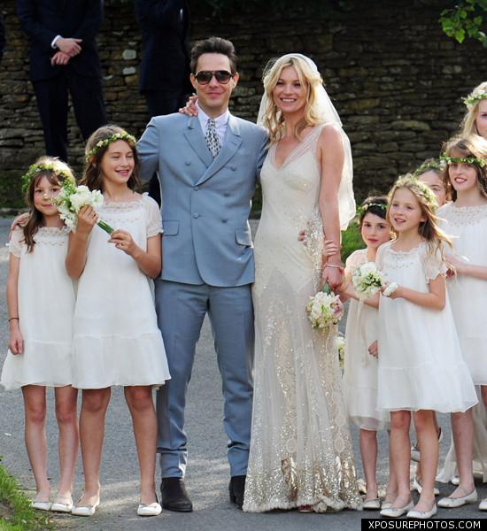 official kate moss wedding photos