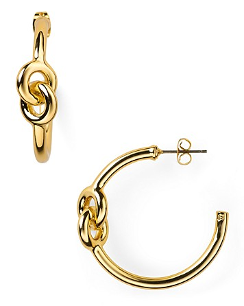 Giles Brothers Gold Loop Earrings