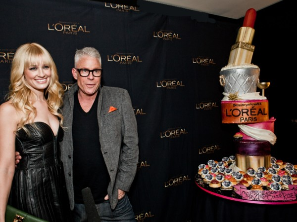 Beth Behrs and L'Oreal consulting makeup artist, Billy B.