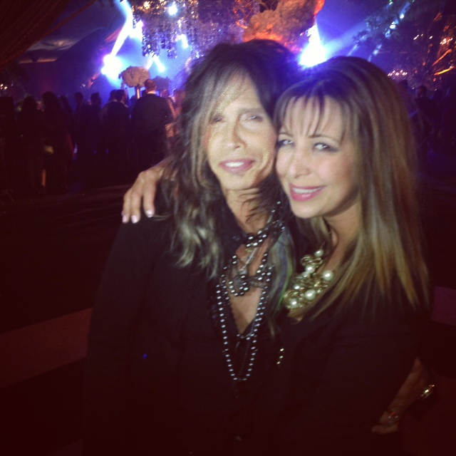 Steven Tyler and Red Carpet Roxy at Seth Macfarlane's post-Oscars party