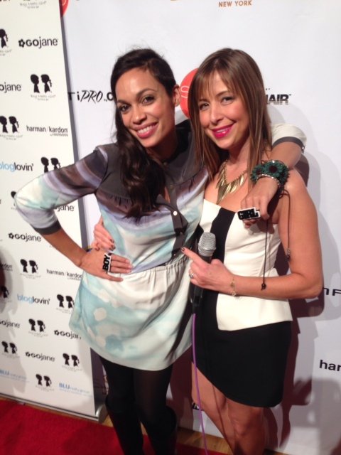 Rosario Dawson and Red Carpet Roxy at Conair Style360