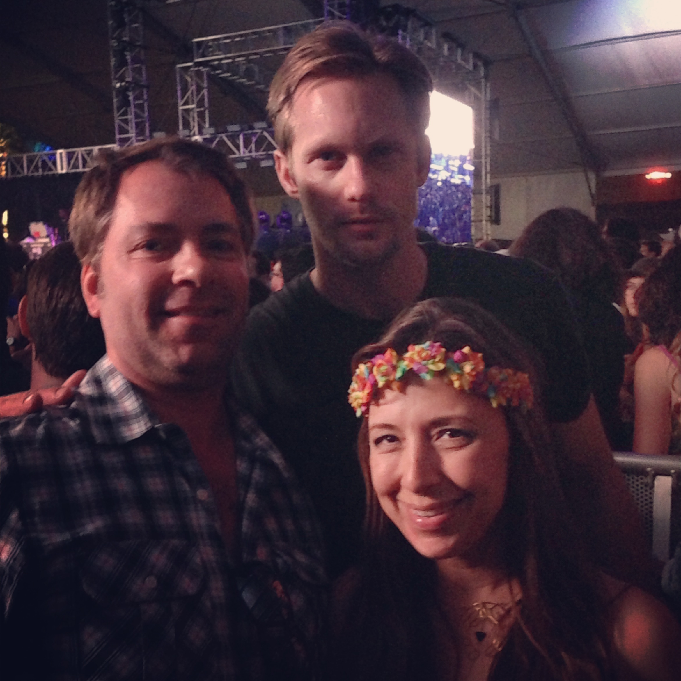 Red Carpet Roxy, her hubby and Alexander Skarsgard at Coachella