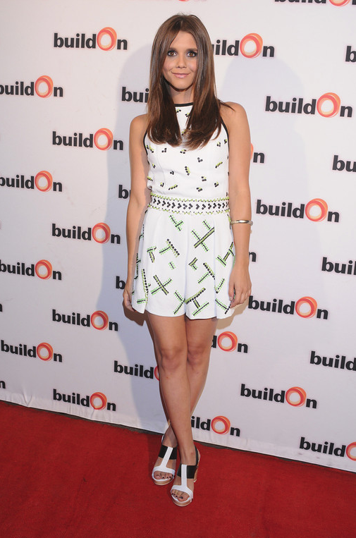 Alexandra Chando, in head to toe Nanette Lepore, hosts buildOn at Aventine Hollywood