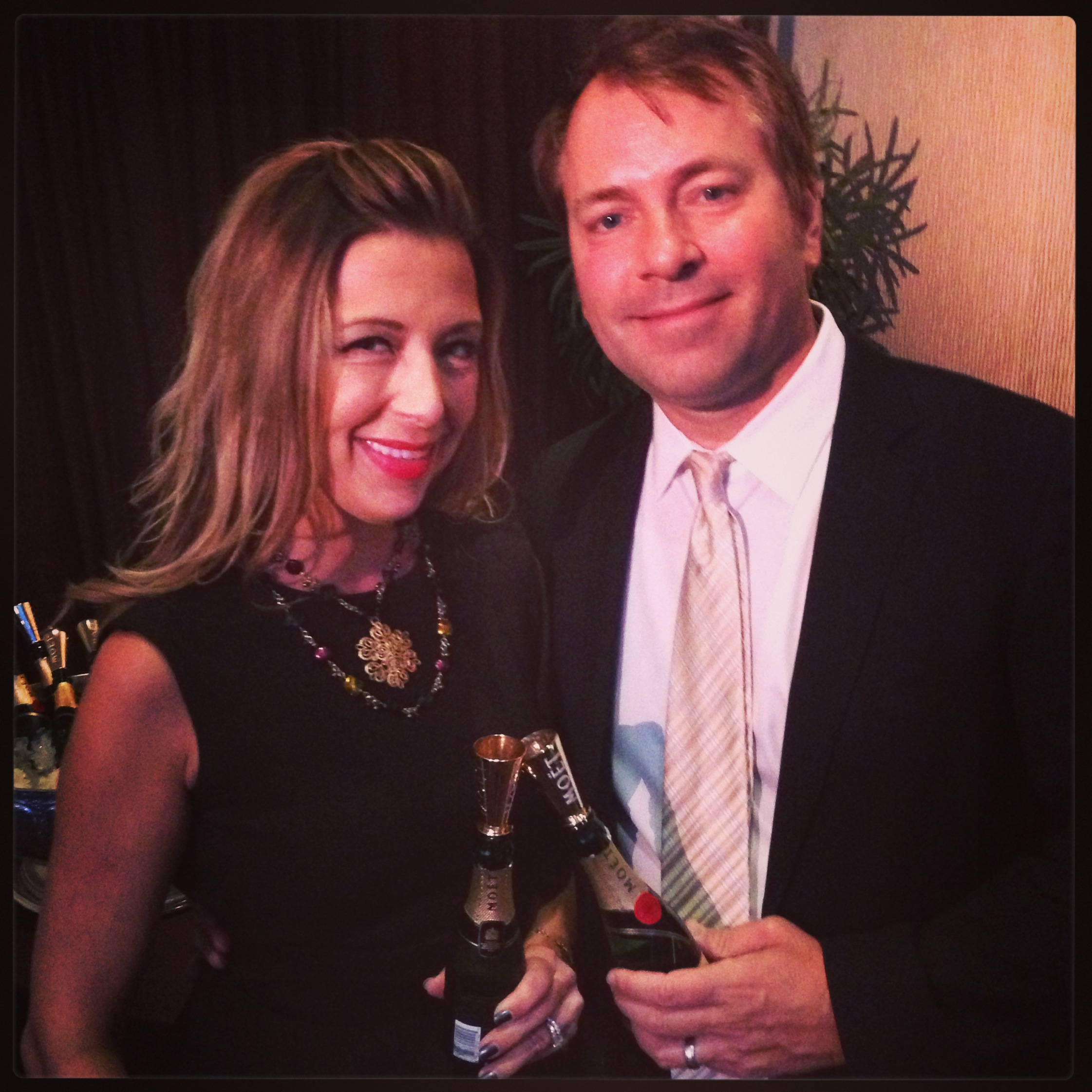 Red Carpet Roxy and hubby at the Hollywood Film Awards