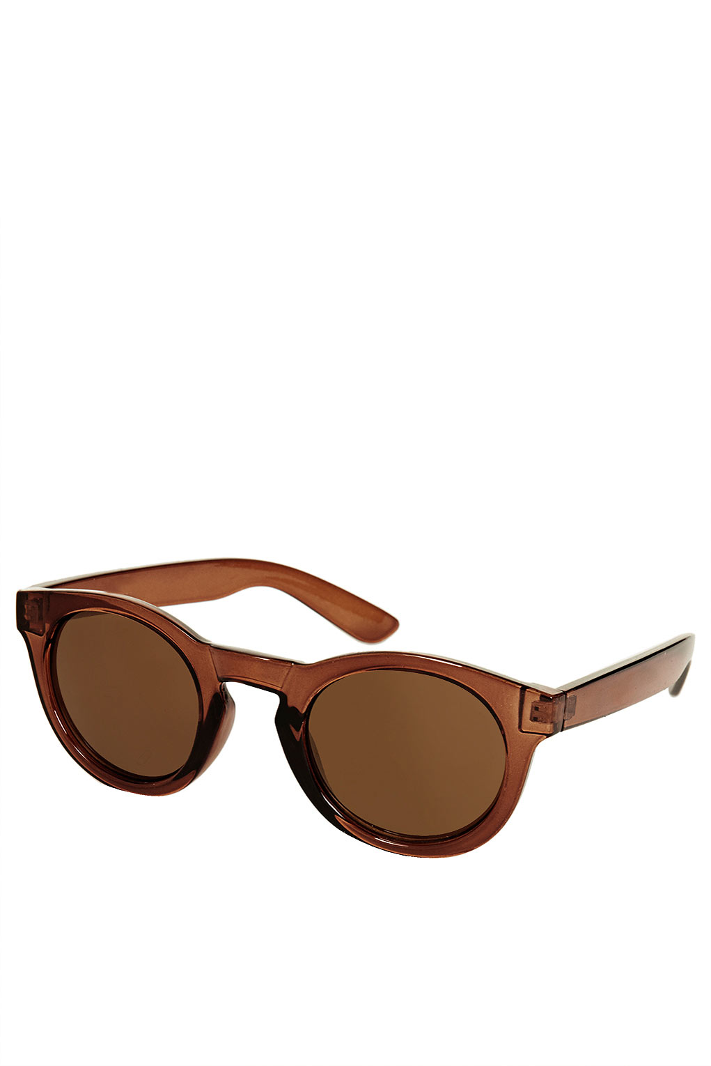 Topshop Chunky Crystal Round Sunglasses