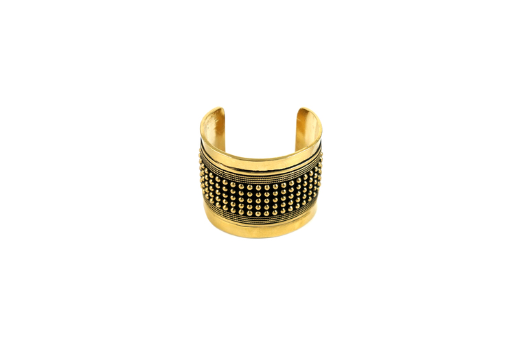 gold cuff front-white