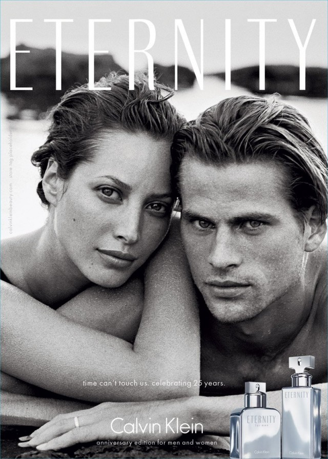 Calvin Klein Eternity, Christy Turlington, Mark Vanderloo