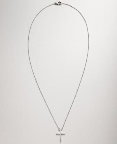 Colette Nicolai diamond and white gold cross pendant