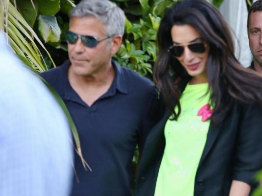 THE SCOOP FROM GEORGE CLOONEY'S ENGAGEMENT PARTY