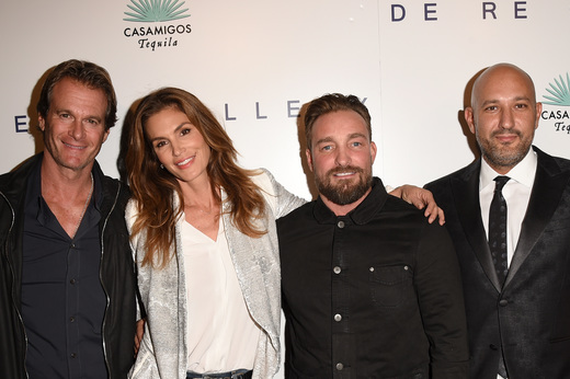 Rande Gerber, Cindy Crawford, Brian Bowen Smith and De Re Gallery Owner Steph Sebbag