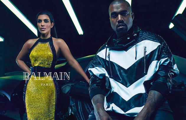 Kim Kardashian kanye west balmain