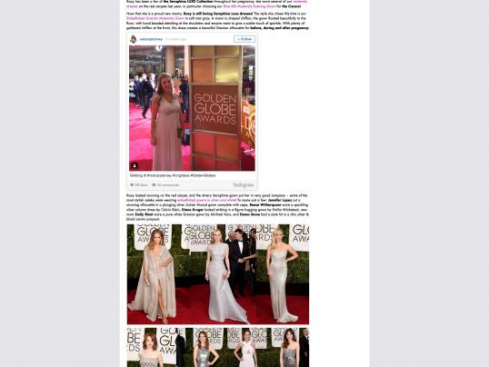 Seraphine Maternity Golden Globes