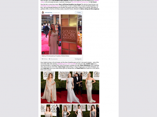 RED CARPET ROXY ON SERAPHINE MATERNITY BLOG
