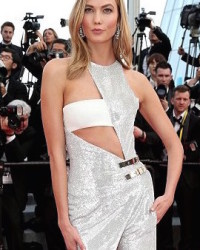 KARLIE KLOSS STUNS IN ATELIER VERSACE AT CANNES