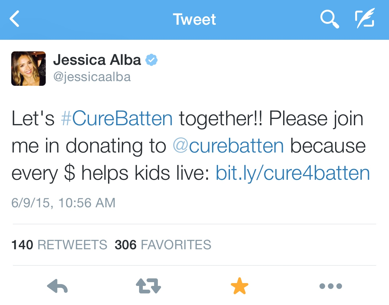Jessica Alba Twitter