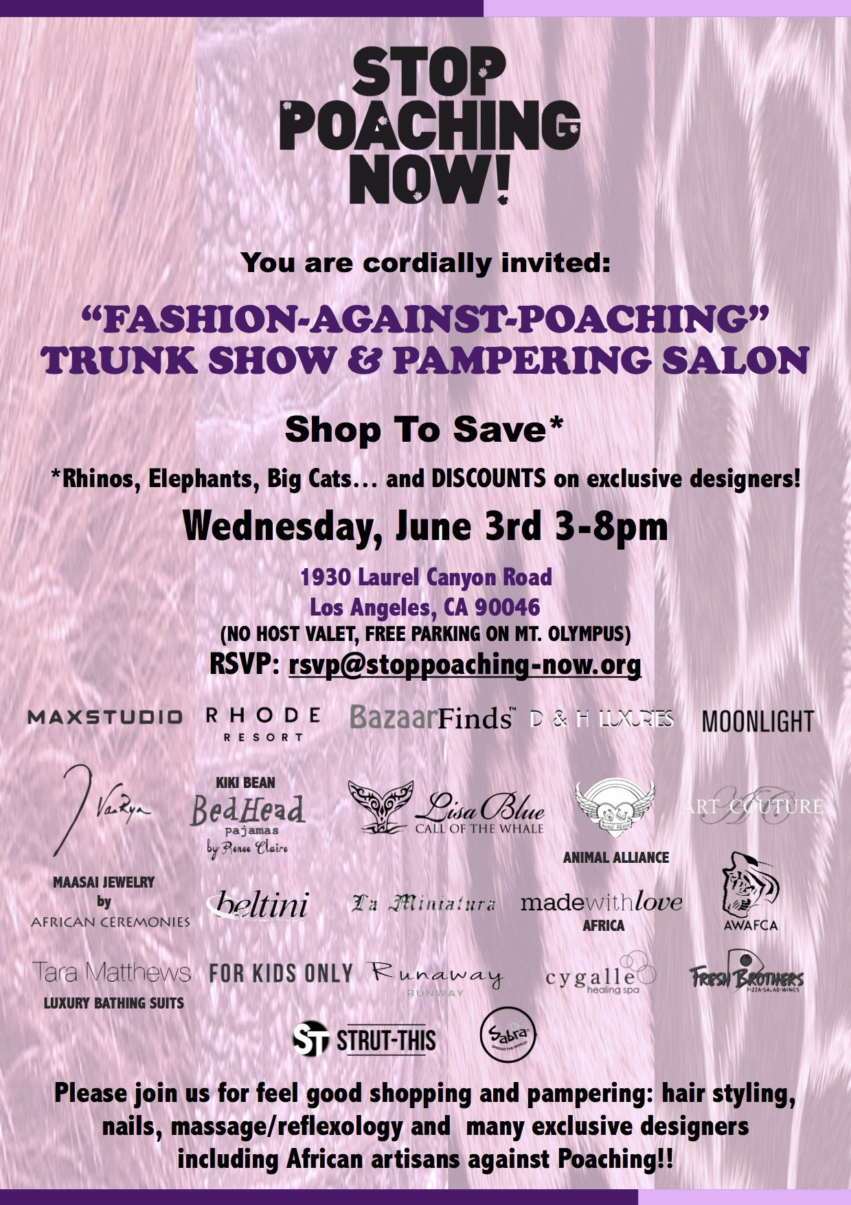 fashion against poaching 1