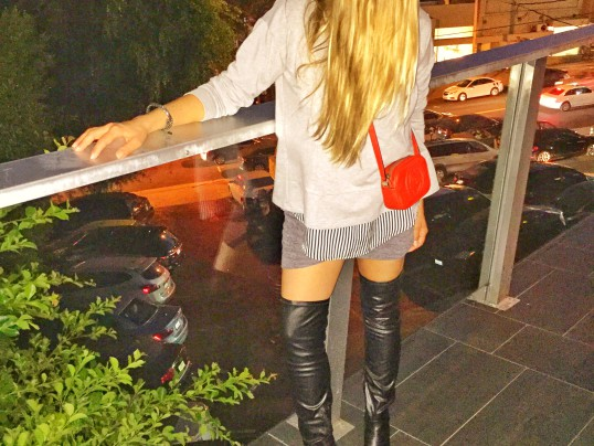 OVER THE KNEE BOOTS + A SWEATSHIRT