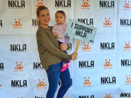 My daughter and I enjoying NKLA's Super Adoption event