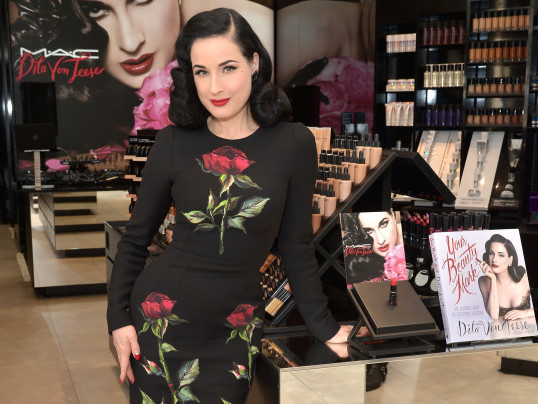 DITA VON TEESE DAZZLES AT HER BEAUTY BOOK LAUNCH