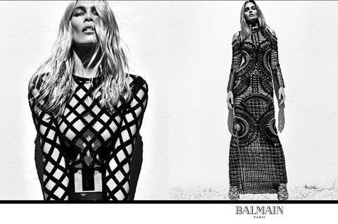 CINDY CRAWFORD + NAOMI CAMPBELL STAR IN BALMAIN ADS