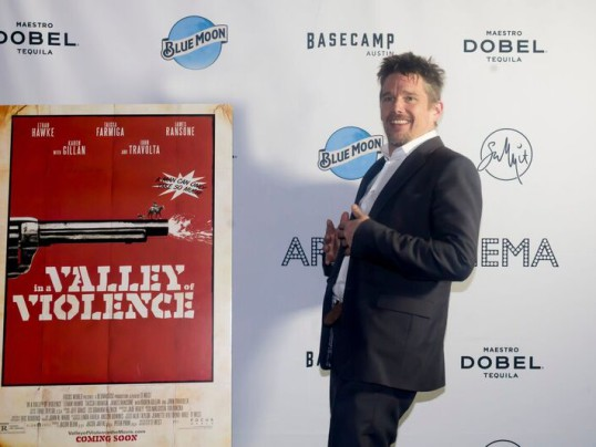 ETHAN HAWKE ROCKS THE VALLEY OF VIOLENCE PARTY