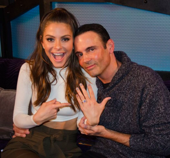 a Menounos Engagement ring