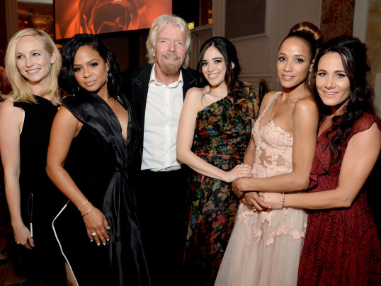 Christina Milian, Richard Branson, Dania Ramirez and Edy Ganem