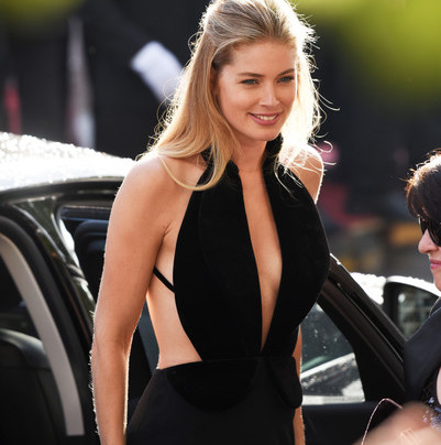 DOUTZEN KROES IN BRANDON MAXWELL AT CANNES