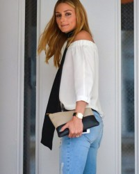 OLIVIA PALERMO IN OTS + BLACK ORCHID