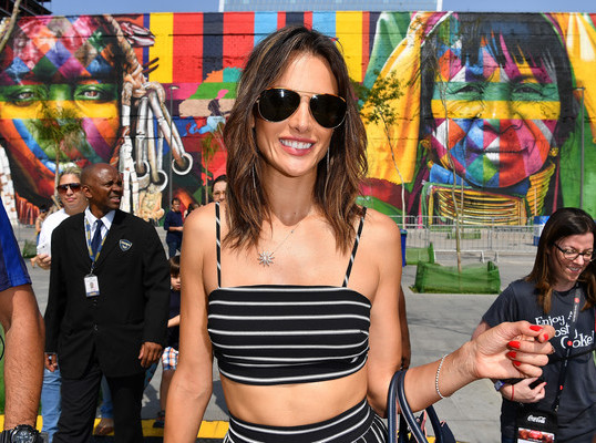 ALESSANDRA AMBROSIO AT THE OLYMPICS
