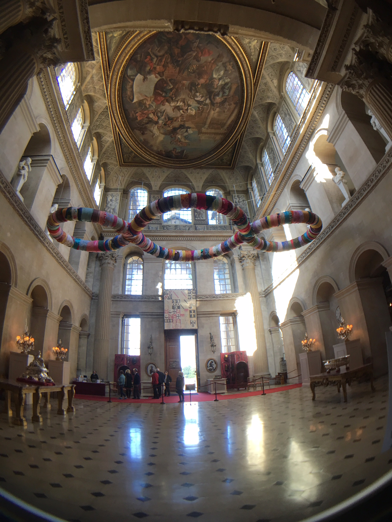 The interior of the foyer in Blenheim Palace