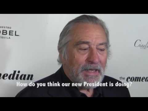 ROBERT DENIRO TALKS TRUMP AT THE COMEDIAN SCREENING