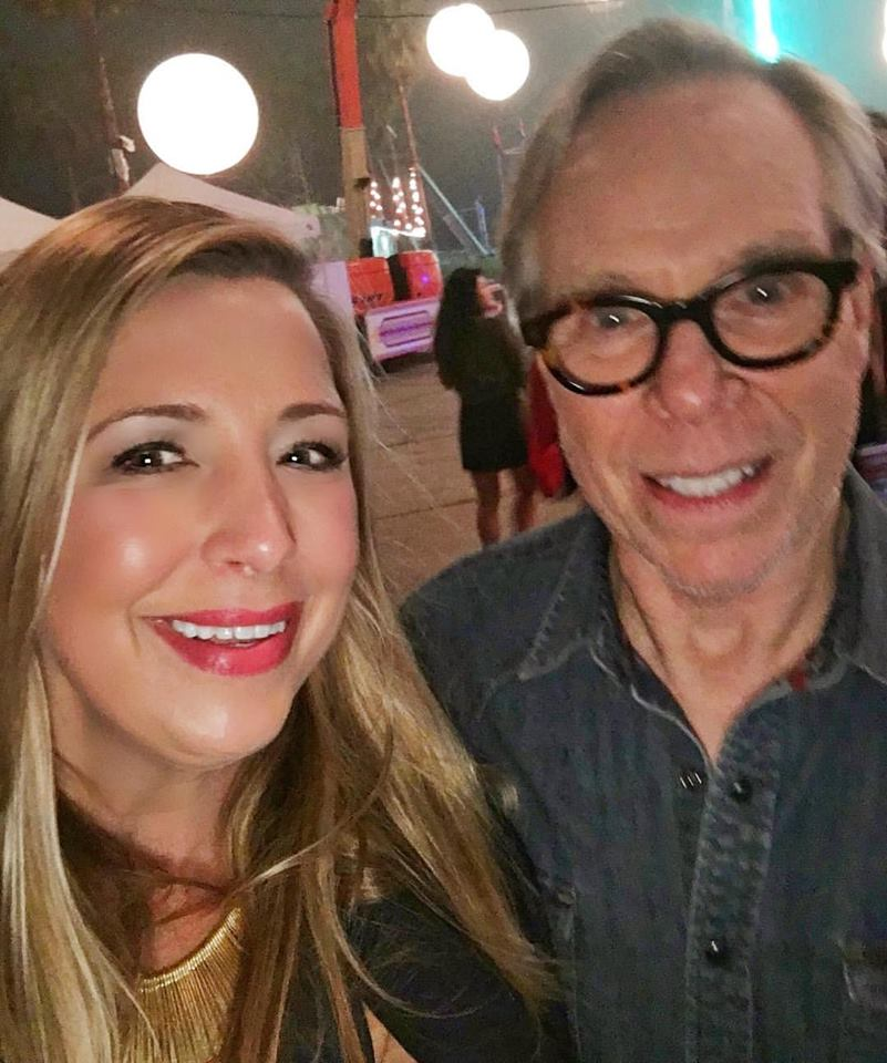 Tommy Hilfiger and me after the show