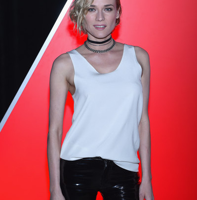 DIANE KRUGER IN LEATHER + STRAPS