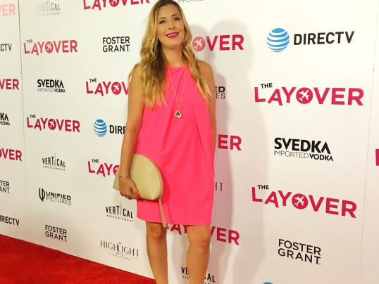 HOT PINK STATEMENT DRESS IN HOLLYWOOD