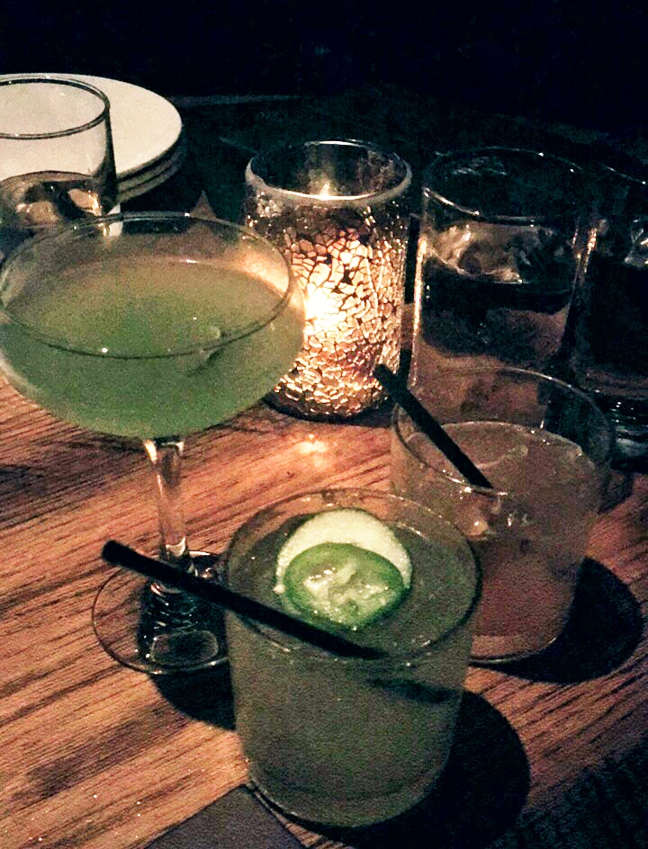The Emerald Gimlet, Green With Envy, and The Woodsman cocktails