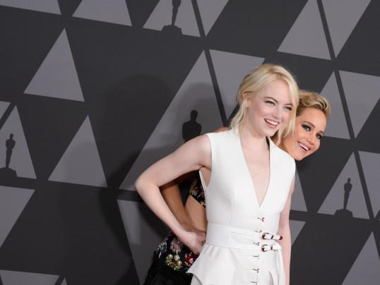 emma Stone and Jennifer Lawrence
