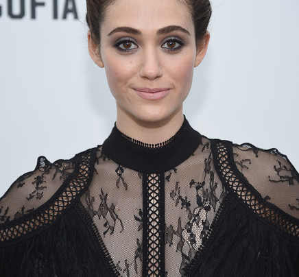 EMMY ROSSUM IN A SEXY BLACK JUMPSUIT