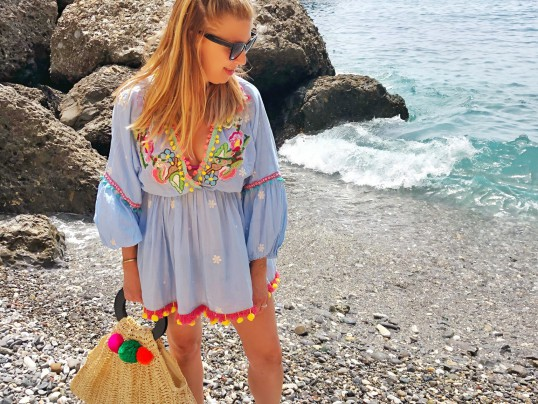 SUMMER SWIMSUIT COVER UP MEDITERRANEAN STYLE