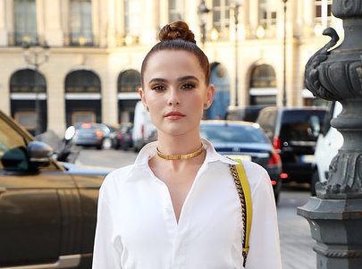 ZOEY DEUTCH IN PATCHWORK CHIC