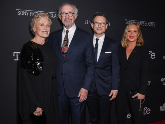 VIDEO: GLENN CLOSE, CHRISTIAN SLATER, JEFF GOLDBLUM TALK THE WIFE